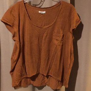 Rust colored madewell boxy tee